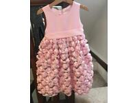 Cinderella puffball dress baby pink age 4 Year's