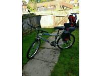 Mountain Bike with Child bicycle seat