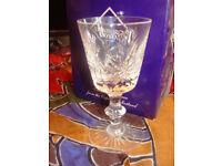 Edinburgh Crystal - Star of Edinburgh large crystal wine glasses (2) £69.00 ono