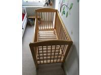Wooden cot (John Lewis)