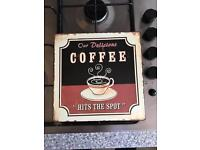 Retro metal coffee sign