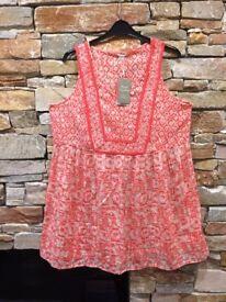 Ladies Monsoon sleeveless blouse size L