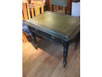 Unusual Desk with drawer. Leather top in good condition. Free local delivery.
