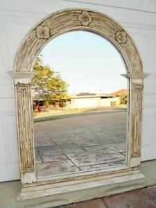 Wooden Mirror 82cm x 1.06m Antiqued Finish
