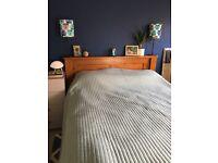 Wooden kingsize bed frame