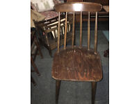 Retro Vintage Spindle Back Solid Heavy Wood Kitchen Dining Bedroom Chair