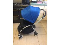 Bugaboo bee plus blue short strap two button fold