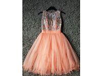 Peach prom dress size 4