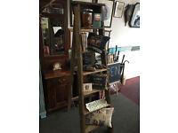Desirable Vintage Wooden Step Ladders Display, Shelves, Storage, Prop, Industrial