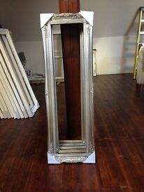 """Silver Wooden Picture/Mirror Frames 12"""" x 48"""""""