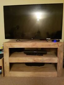 Solid mango wood coffee table & tv unit
