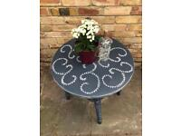 Occasional side console hall coffee table in chalk paint