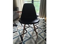 4 x black Eames style dining chairs