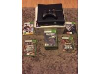 Xbox 360 with controller & 12 games