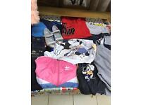Job lot of cloths and trainers jeans kids adults