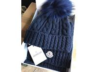Moncler hat and scarf gift set new