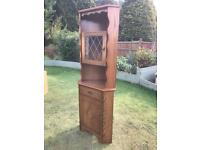 Oak effect corner display cabinet vgc (can deliver), used for sale  Norwich, Norfolk
