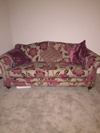3 seater sofa and chair (inc cushions)