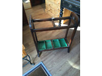 Stick and Umbrella Stand Wooden Frame