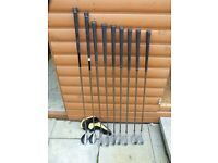 Set of Cobra irons and utilities.- Aldila graphite senior shafts - in good condition.