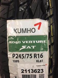 4 Brand New Kumho Road Venture SAT  245/75R16  *** WallToWallTires.com ***