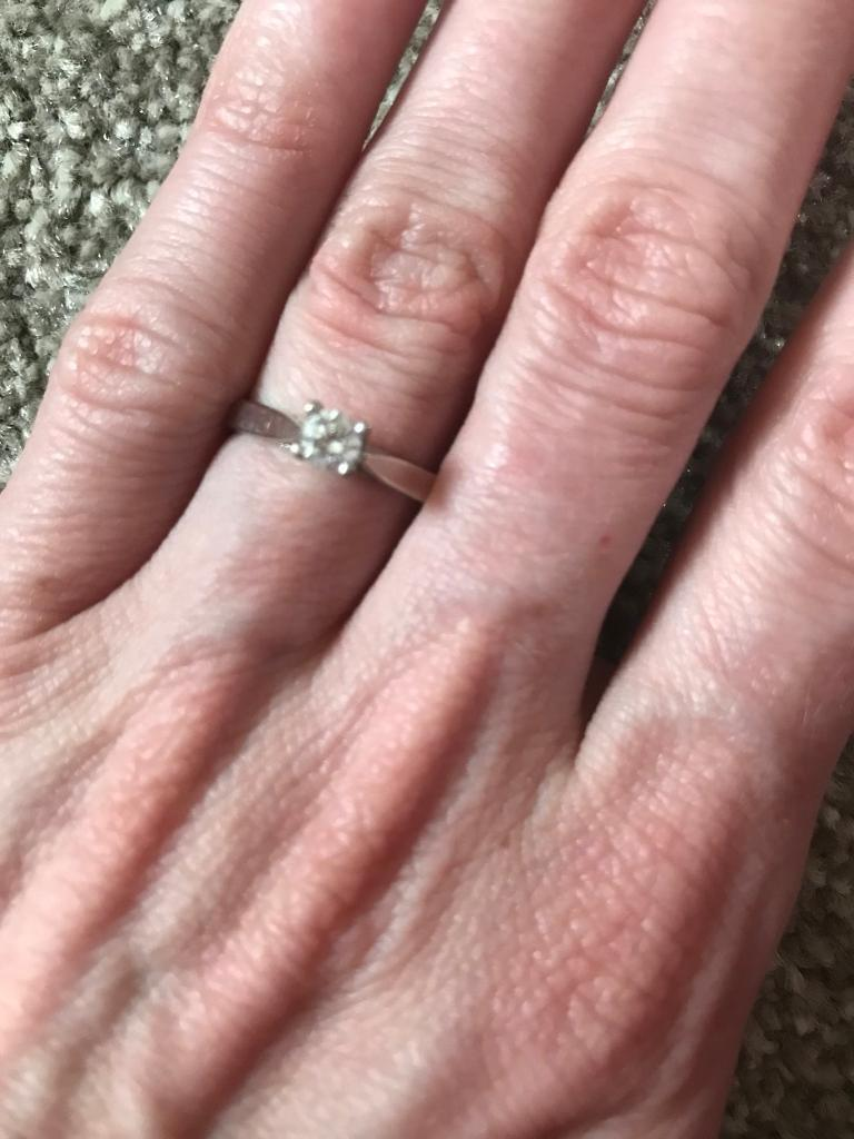 Round Brilliant Cut Diamond Ring | in Tranent, East Lothian | Gumtree