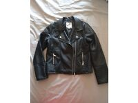 Leather effect black jacket from M&S, age 11/12