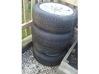 """17"""" alloys + tyres"""