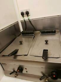 Catering double fryer