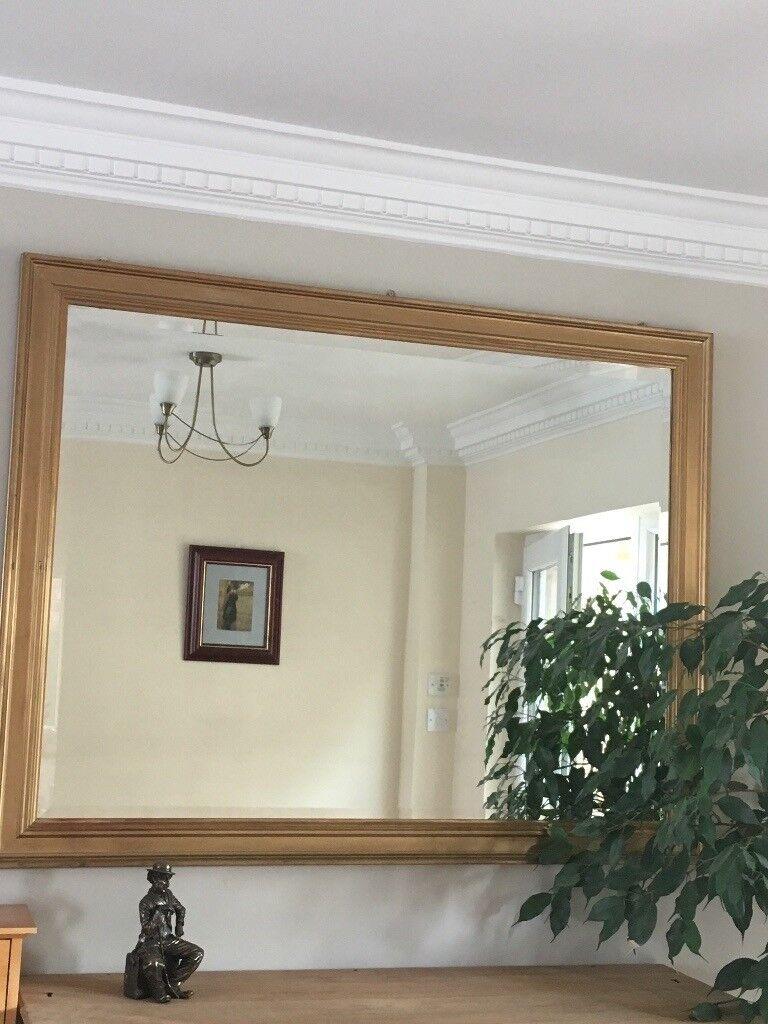 Large gold framed mirror | in Cramlington, Northumberland | Gumtree