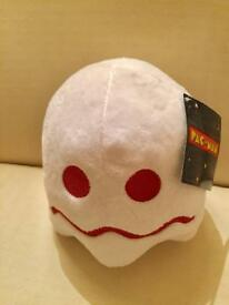 Official PacMan White Ghost soft toy