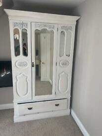 Decorated Edwardian wardrobe