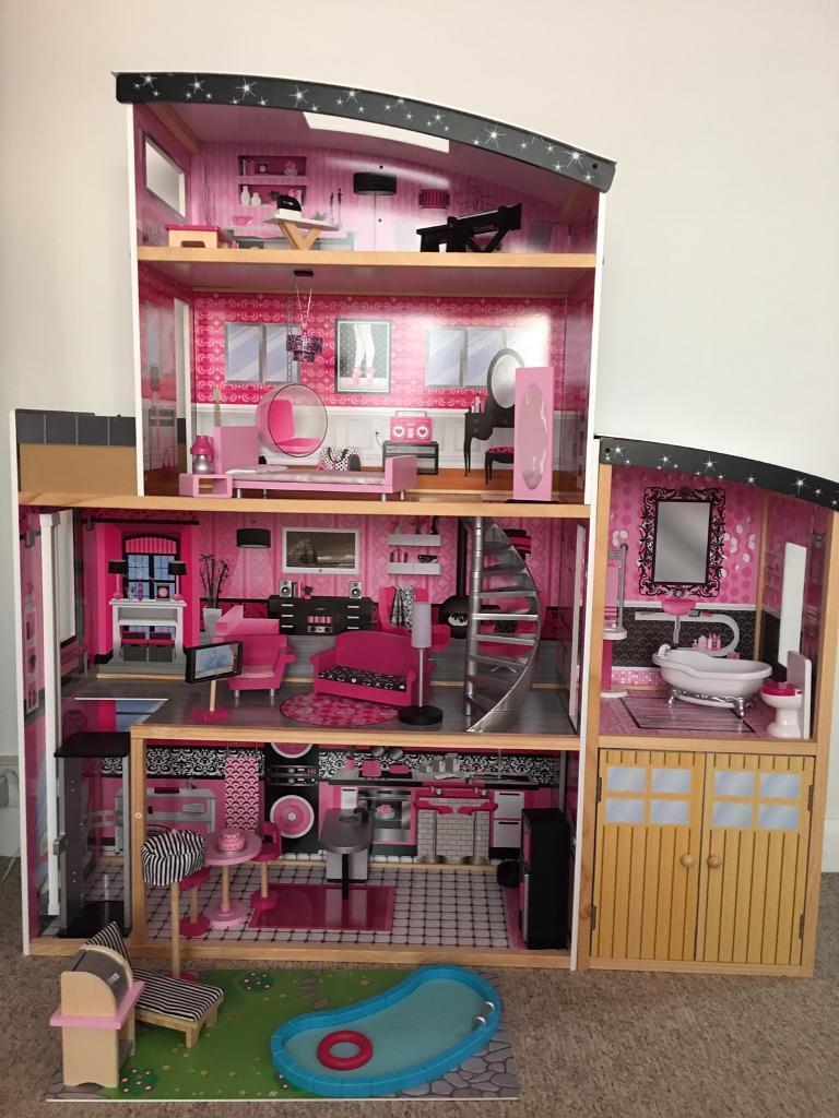 Kidkraft Sparkle Mansion Wooden Dolls House In Portslade East