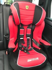 Brand New Car seat Ferrari age 9 months - 10 years