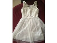 White dress for sale size 8