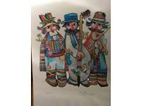 Signed Obican lithograph