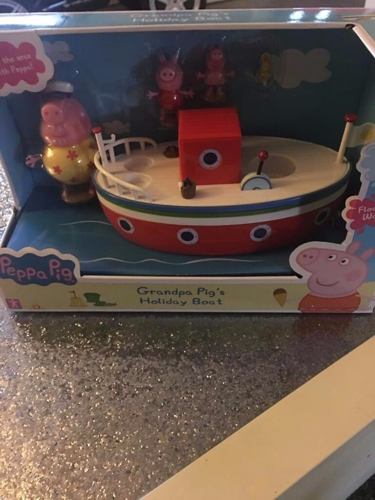 peppa pig grampa pig holiday boat - brand new in box never opened