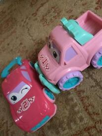 Mothercare large pink cars