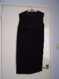 Ladies fringed party dress
