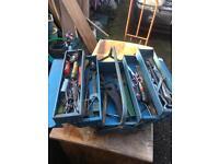 Metal Tool Box and Tools