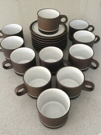 Cups and saucers - set of 10