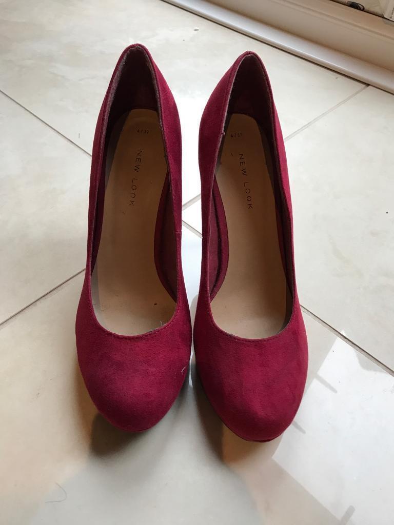 Women's dark pink/red heels size 4