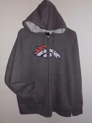 NWT DENVER BRONCOS WOMENS MAJESTIC WIN BIG FULL ZIP HOODIE SWEATSHIRT Denver Broncos Womens Sweatshirts