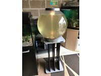 Large bi orb fish tank 60l full set up with stand pump light gravel ornament all work u can look pic