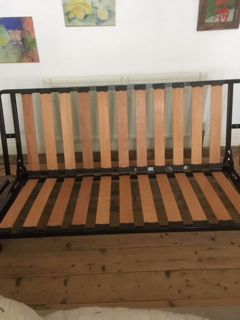 Super Double Futon Sofa Bed In Good Condition Low To The Ocoug Best Dining Table And Chair Ideas Images Ocougorg