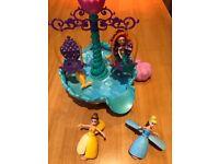 Disney bath toys -ariel castle , belle &cinderella floaties