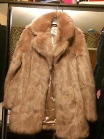 Faux fur pink coat miss selfridge size 8/10 never worn rrp 70