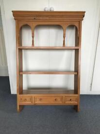 Wall display unit in solid pine