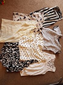 Womens tops size 8 and 10