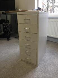 White Metal Office Drawer Set